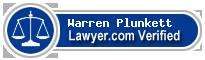 Warren F. Plunkett  Lawyer Badge