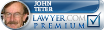John D. Teter  Lawyer Badge