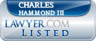 Charles Hammond III Lawyer Badge