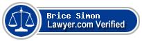 Brice C. Simon  Lawyer Badge