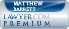 Matthew D. Barrett  Lawyer Badge