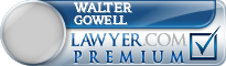 Walter R. Gowell  Lawyer Badge