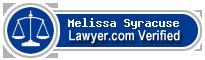Melissa C. Syracuse  Lawyer Badge