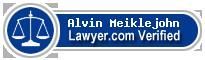 Alvin J. Meiklejohn  Lawyer Badge