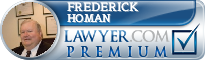 Frederick C. Homan  Lawyer Badge