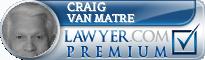 Craig A. Van Matre  Lawyer Badge