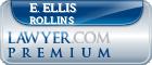 E. Ellis Rollins  Lawyer Badge