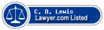 C. D. Lewis Lawyer Badge