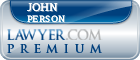 John C. Person  Lawyer Badge