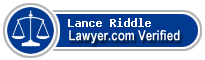 Lance A. Riddle  Lawyer Badge