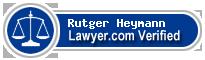 Rutger Jan Heymann  Lawyer Badge