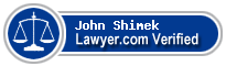 John J. Shimek  Lawyer Badge
