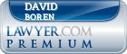 David H. Boren  Lawyer Badge
