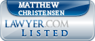 Matthew Christensen Lawyer Badge