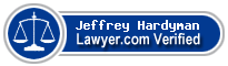 Jeffrey E. Hardyman  Lawyer Badge