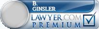 B. William Ginsler  Lawyer Badge