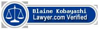 Blaine J. Kobayashi  Lawyer Badge