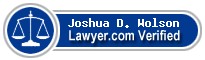 Joshua D. Wolson  Lawyer Badge
