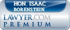 Hon. Isaac Borenstein  Lawyer Badge