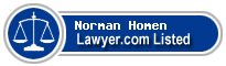 Norman Homen Lawyer Badge