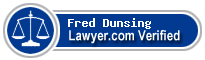 Fred A. Dunsing  Lawyer Badge