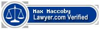 Max F. Maccoby  Lawyer Badge