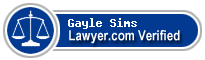 Gayle A. Sims  Lawyer Badge