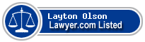 Layton Olson Lawyer Badge
