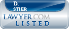 D. Stier Lawyer Badge