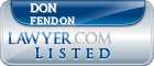 Don Fendon Lawyer Badge