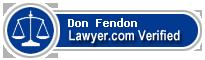 Don Antonio Fendon  Lawyer Badge