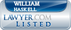 William Haskell Lawyer Badge