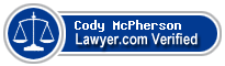 Cody J. McPherson  Lawyer Badge