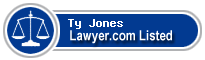Ty Jones Lawyer Badge