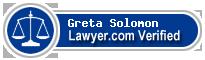 Greta E. Solomon  Lawyer Badge