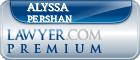 Alyssa S. Pershan  Lawyer Badge