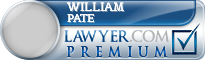 William A. Pate  Lawyer Badge