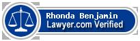 Rhonda M. Benjamin  Lawyer Badge