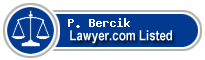 P. Bercik Lawyer Badge