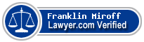 Franklin I. Miroff  Lawyer Badge