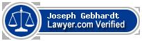 Joseph D. Gebhardt  Lawyer Badge