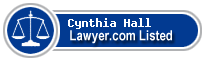 Cynthia Hall Lawyer Badge
