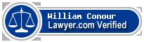 William F. Conour  Lawyer Badge