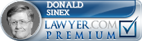 Donald G. Sinex  Lawyer Badge