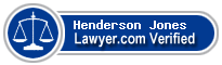 Henderson M. Jones  Lawyer Badge