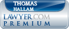 Thomas Guy Hallam  Lawyer Badge