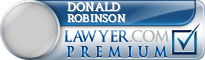 Donald A. Robinson  Lawyer Badge
