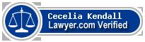 Cecelia M. Kendall  Lawyer Badge
