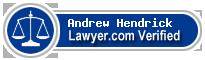 Andrew M. Hendrick  Lawyer Badge