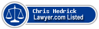 Chris Hedrick Lawyer Badge